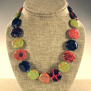 """Kazuri 18"""" Earthen Clay African Necklace"""